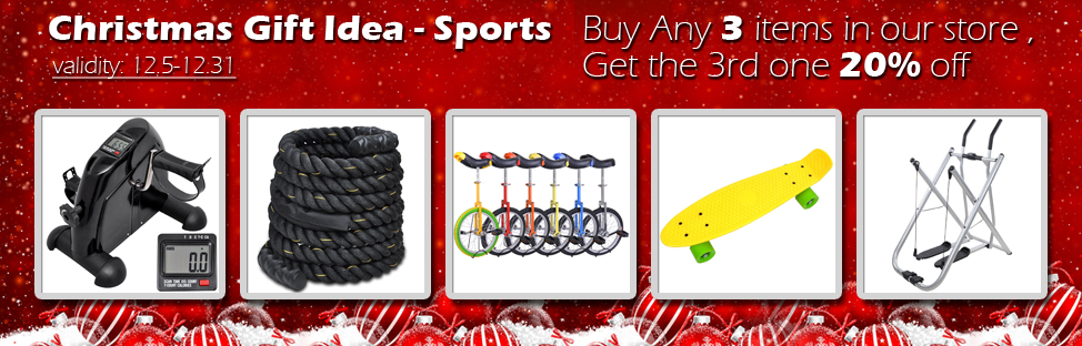 Christmas Gift Idea - Sport - Buy 2, Get 1 at 20% off - Validity 12/05 - 12/31
