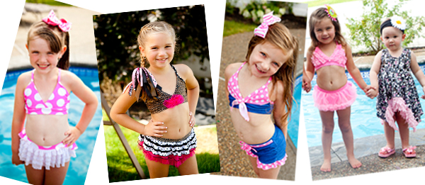 frankie and daisy girls two piece swimsuits