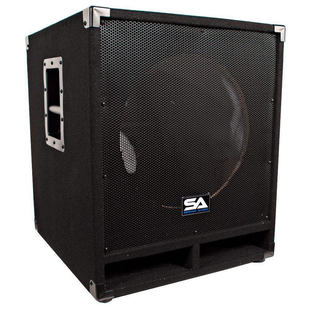 seismic audio empty 15 inch pro audio subwoofer cabinet