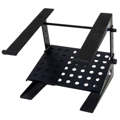 Seismic Audio COMS3 - Table Top or Desk Laptop Stand with Shelf - Adjustable Height and Width - Steel rack for Laptop Computer, Keyboard, etc at Sears.com