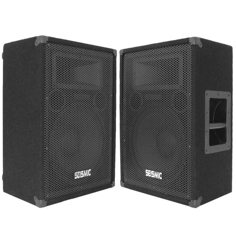 2 seismic audio 12 floor monitors stage dj speakers ebay for 12 floor speakers