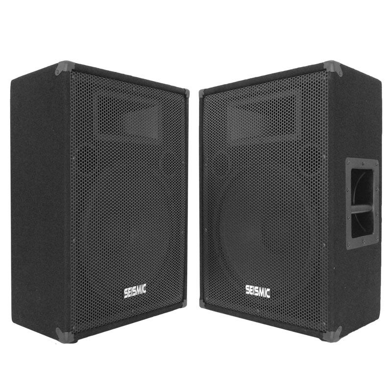 2 seismic audio 15 floor monitors stage pa speakers ebay for 15 floor speakers
