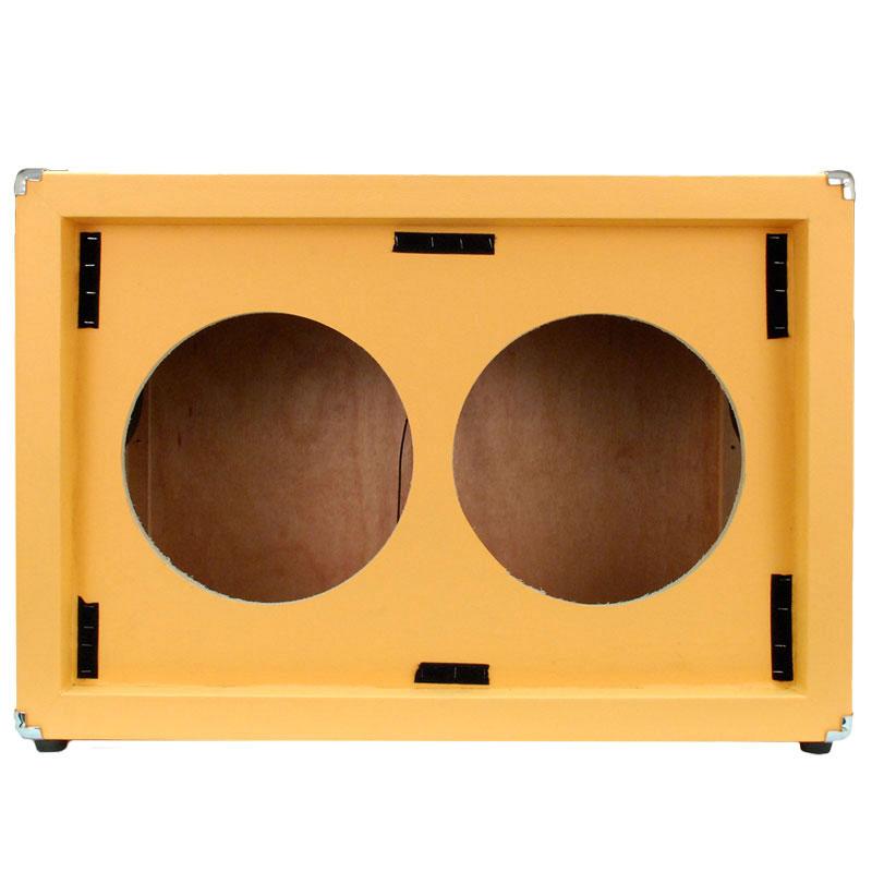 Seismic Audio EMPTY GUITAR SPEAKER CABINET 2x12 Cab 212 Orange Tolex