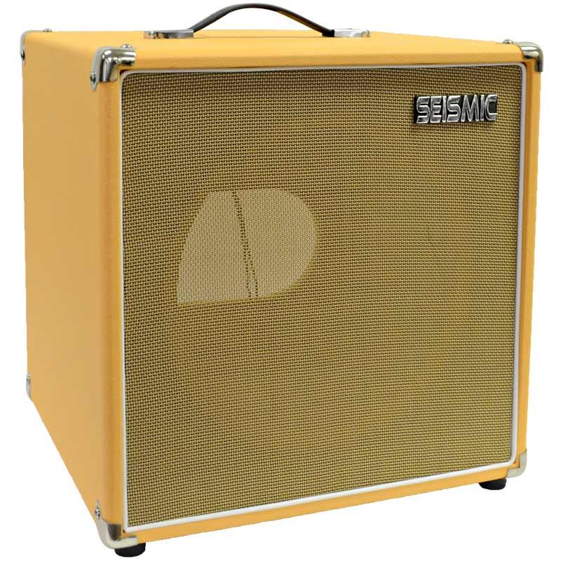 Seismic Audio Orange Tolex GUITAR SPEAKER CABINET EMPTY 1x12 Cube Cab