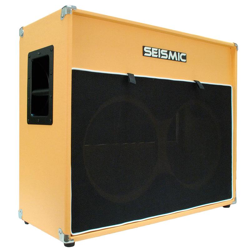 Seismic Audio 2x12 EMPTY GUITAR SPEAKER CABINET Orange Tolex Cab 212