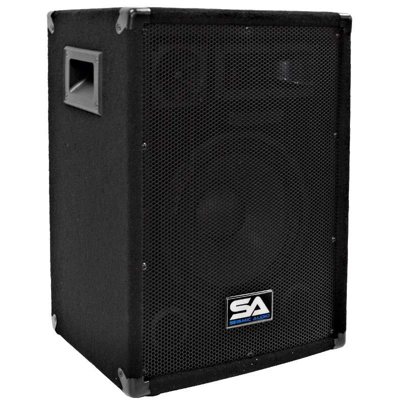 seismic audio new pair 10 inch pa speakers pro audio dj band 200 watt ebay. Black Bedroom Furniture Sets. Home Design Ideas