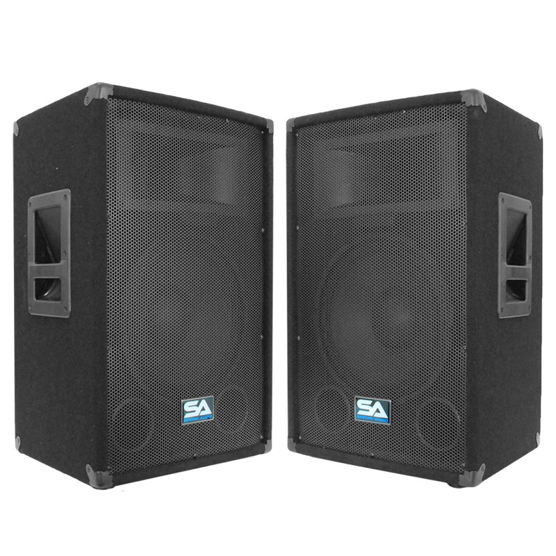 Seismic audio pair audio 12 inch pa speakers karaoke for 12 inch floor speakers