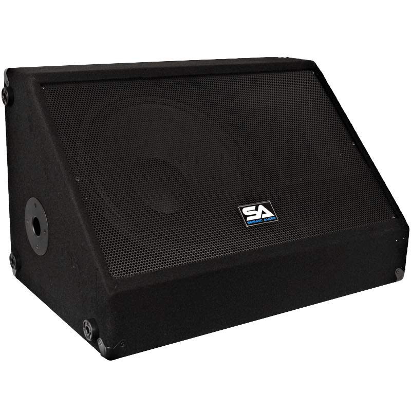 Seismic audio 12 pa speaker monitor floor stage church for 12 floor monitor