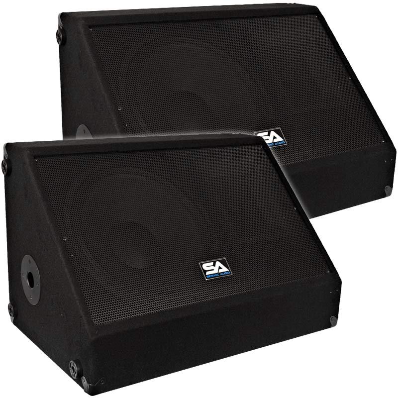 Pair 12 floor stage monitors speakers new 500 watts ebay for 12 floor speaker