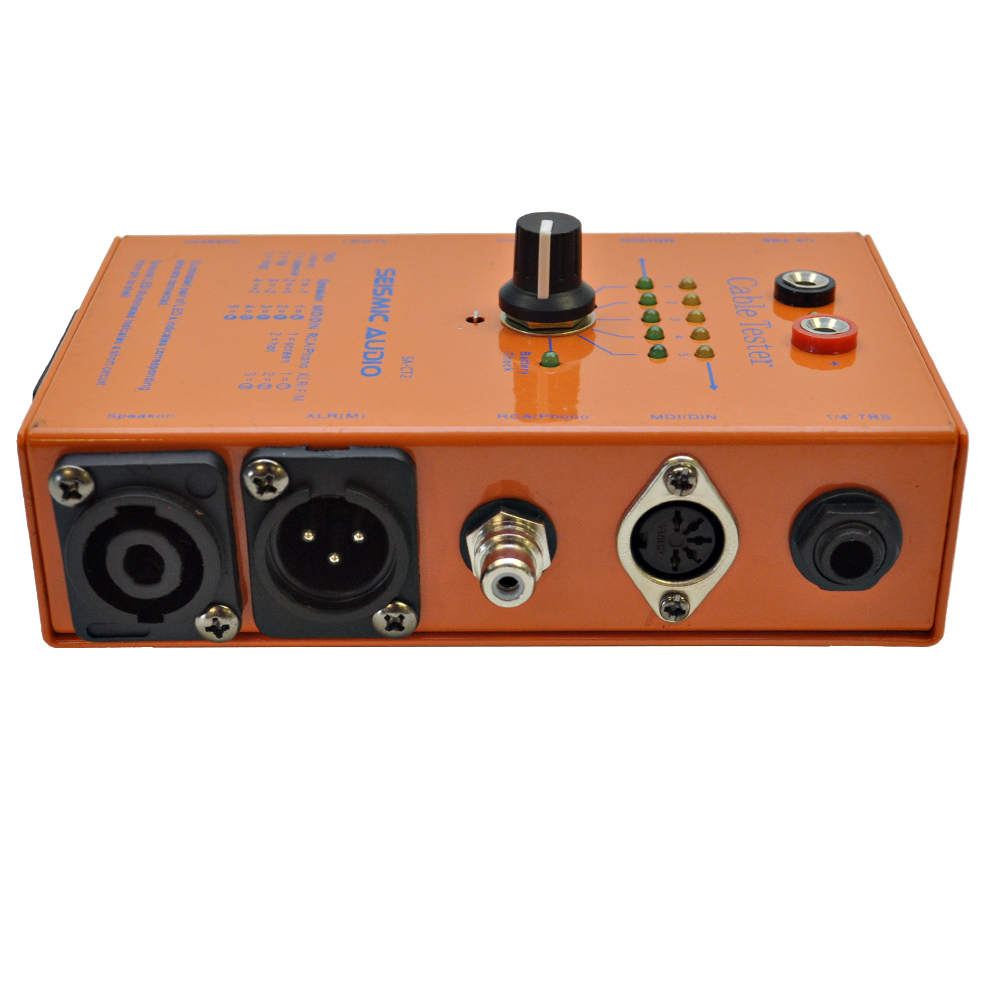 Audio Cable Tester : Seismic audio cable tester test xlr speakon quot trs ts