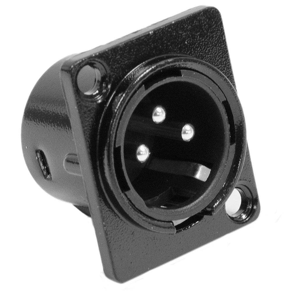 Seismic Audio SAPT214 - XLR Male Panel Mount Connector - Black Metal Housing - Fits Series D Pattern Holes Pro Audio at Sears.com