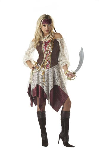 Female pirate costume with pants