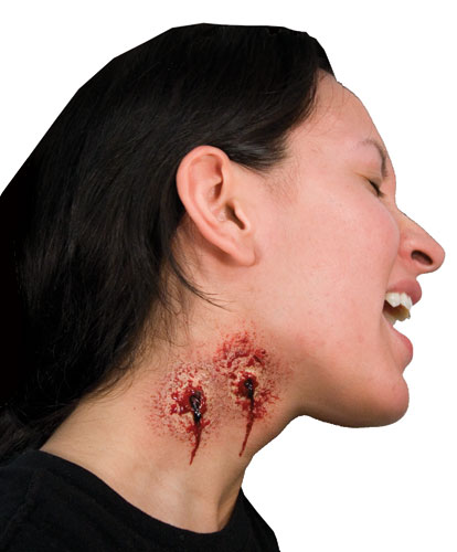 ez vampire bite neck make up fx full kit costume ebay
