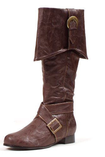 mens knee high pirate boots brown accessory