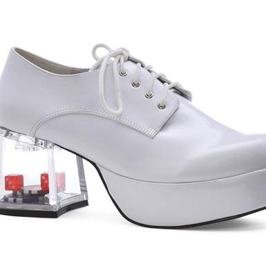 dice mens white platform 3 quot heel shoes ebay