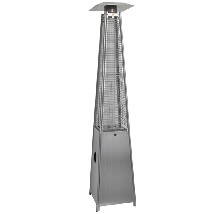 stainless steel modern pyramid outdoor patio heater