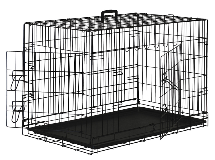 premium 2door pet crate with abs tray