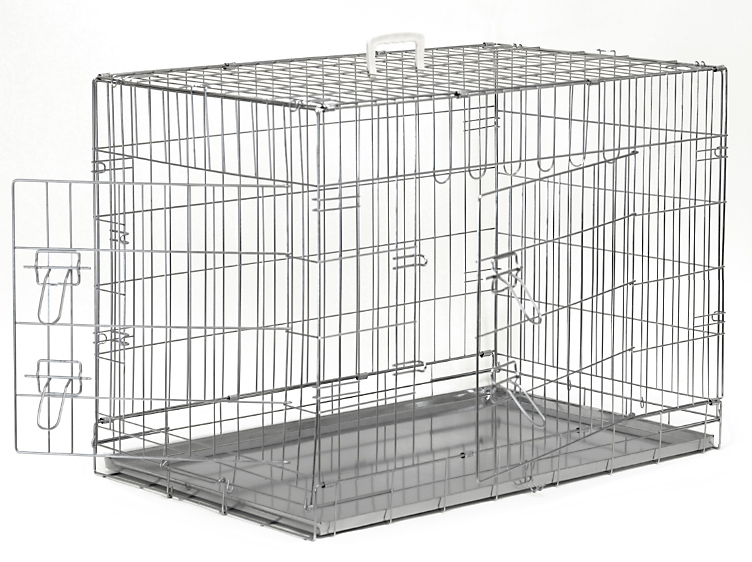 premium 2door pet crate with metal tray - Collapsible Dog Crate