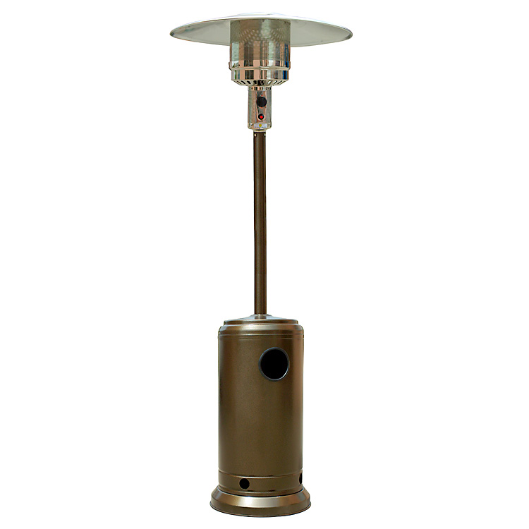 Tall Golden Bronze Hammered Outdoor Patio Heater