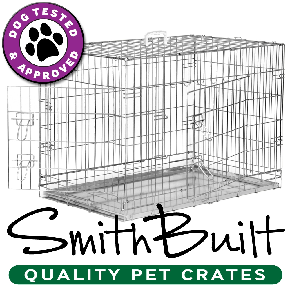 Silver Dog Crate Kennel