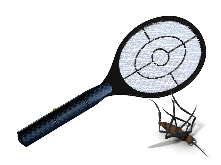 One Heavy Duty Electronic Insect Racket Swatter