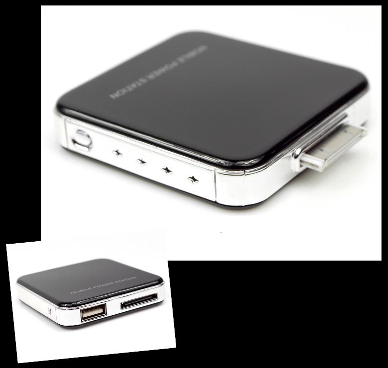 2200mah portable external black battery charger usb iphone. Black Bedroom Furniture Sets. Home Design Ideas