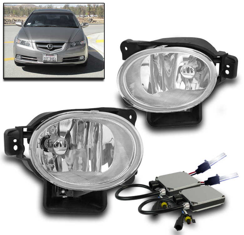 07-08 ACURA TL BASE TYPE-S BUMPER DRIVING FOG LIGHT LAMP