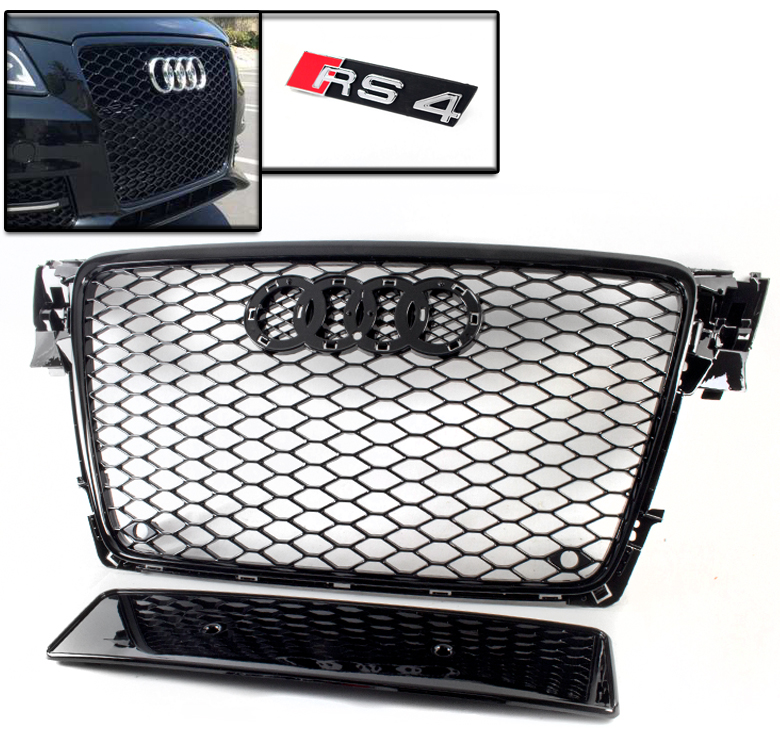 09 12 audi a4 avant s4 b8 honeycomb mesh front hood grille. Black Bedroom Furniture Sets. Home Design Ideas