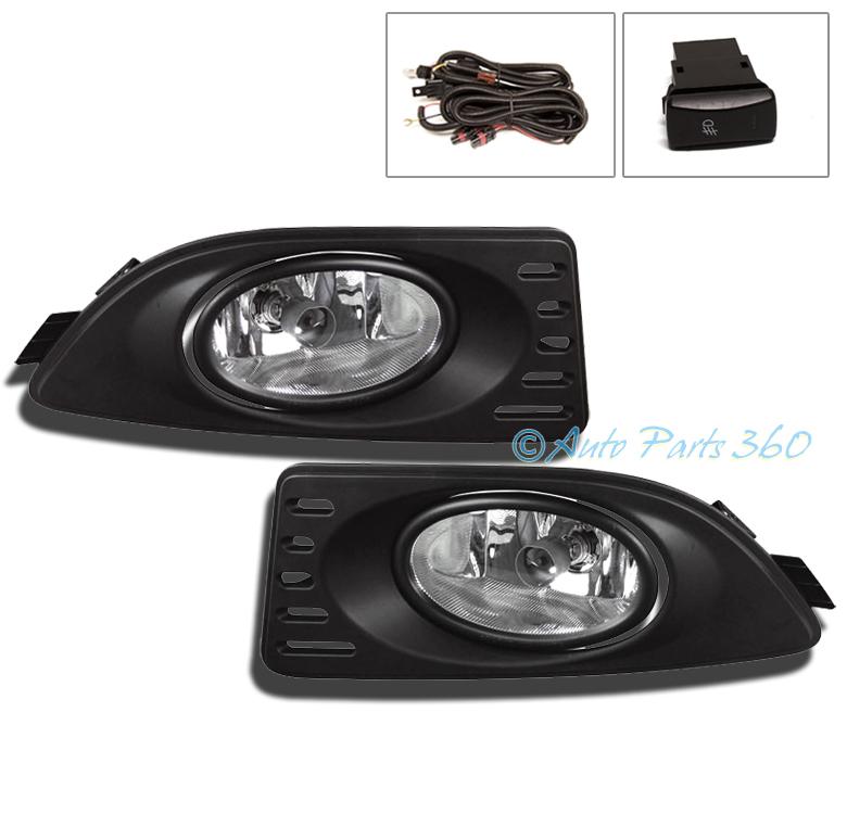 05 06 07 acura rsx coupe 2dr jdm bumper driving chrome fog light lamp. Black Bedroom Furniture Sets. Home Design Ideas