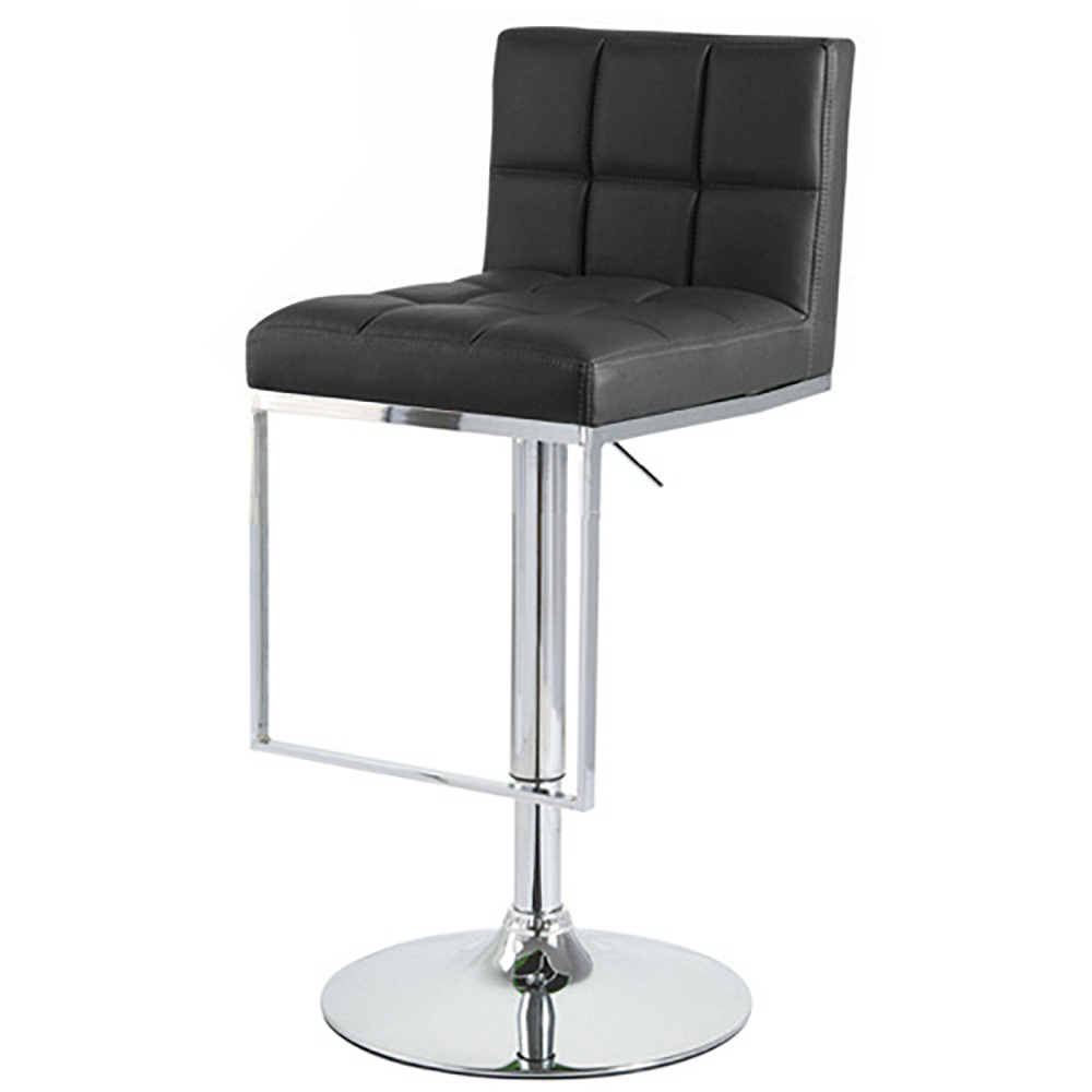 New Modern Quot Leather Quot Bar Counter Stool Adjustable Chrome