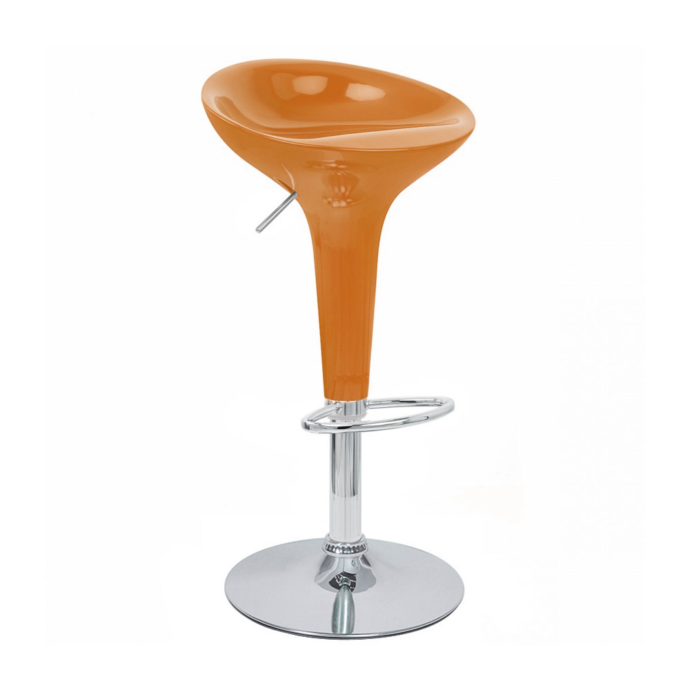 MODERN ADJUSTABLE BOMBO STYLE BAR STOOL SCOOP BARSTOOL