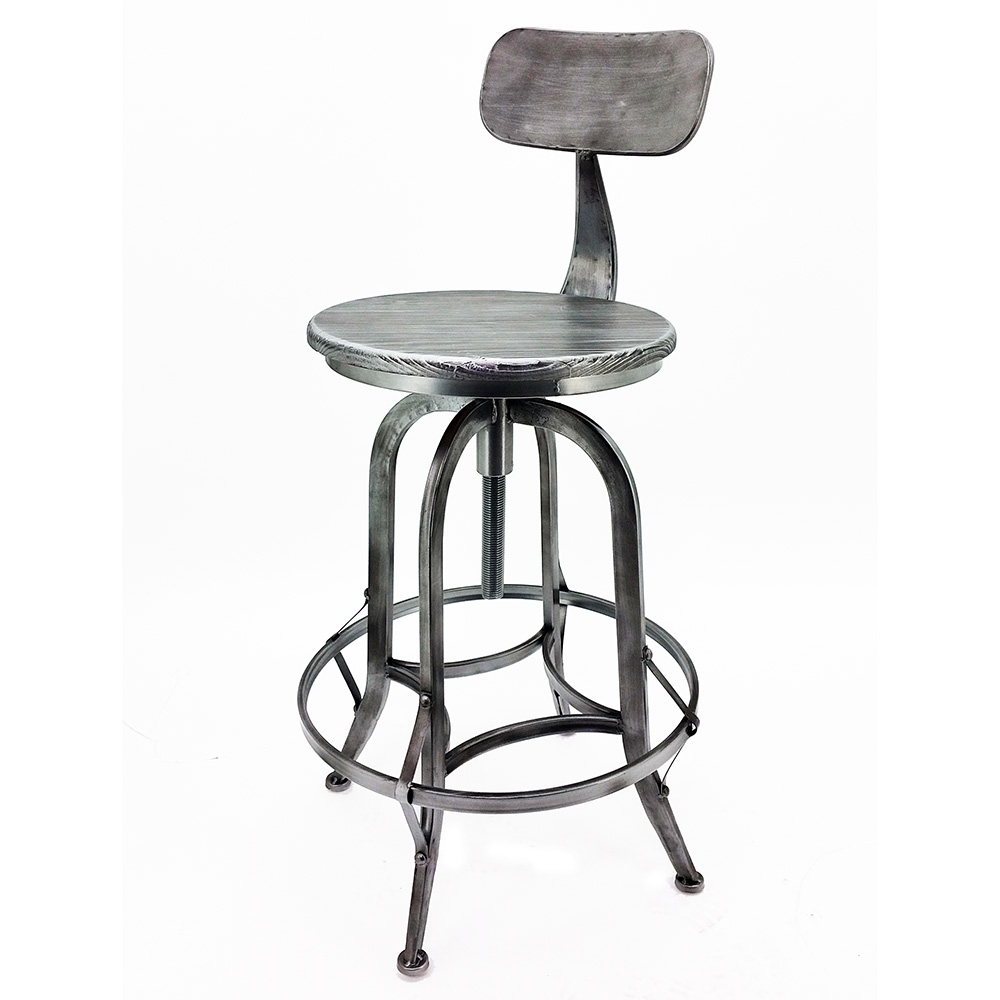 new rustic retro arthur barstool  steel rotating adjustable  - newrusticretroarthurbarstoolsteelrotatingadjustable