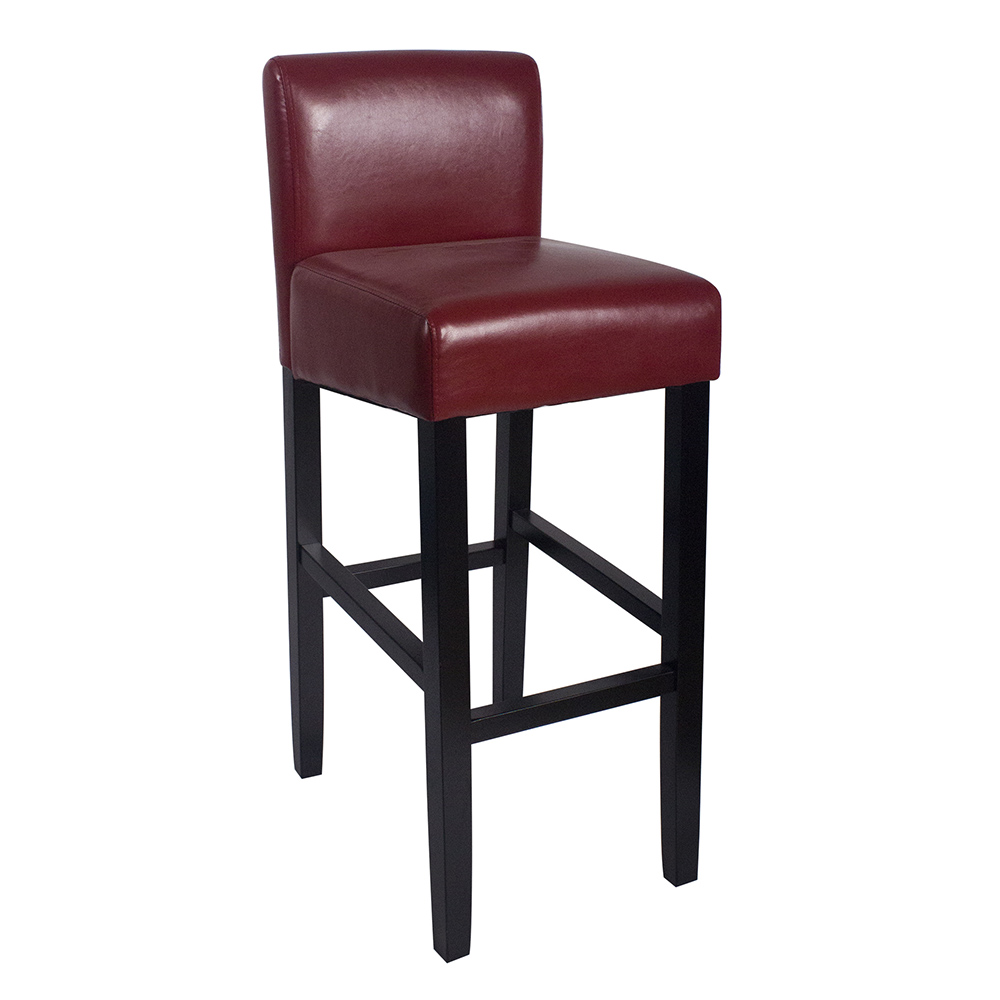 New Modern Wood Leather Barstool 32 Quot Contemporary Bar