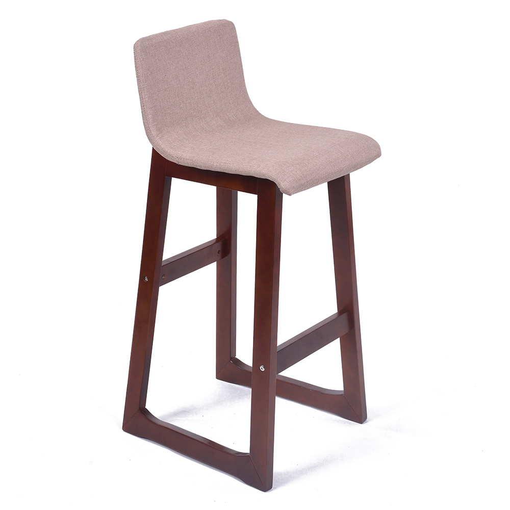 Modern Wood Bar Stools ~ New modern wood fabric chevron barstool