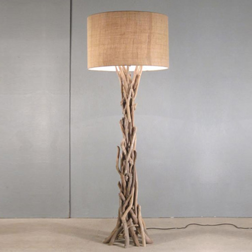 Modern home nautical driftwood floor lamp vandue aloadofball Image collections