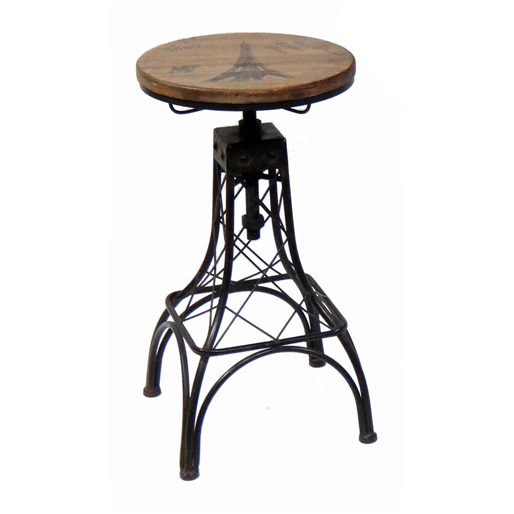 New Paris Eiffel Tower Themed Bar Table And Barstool Set