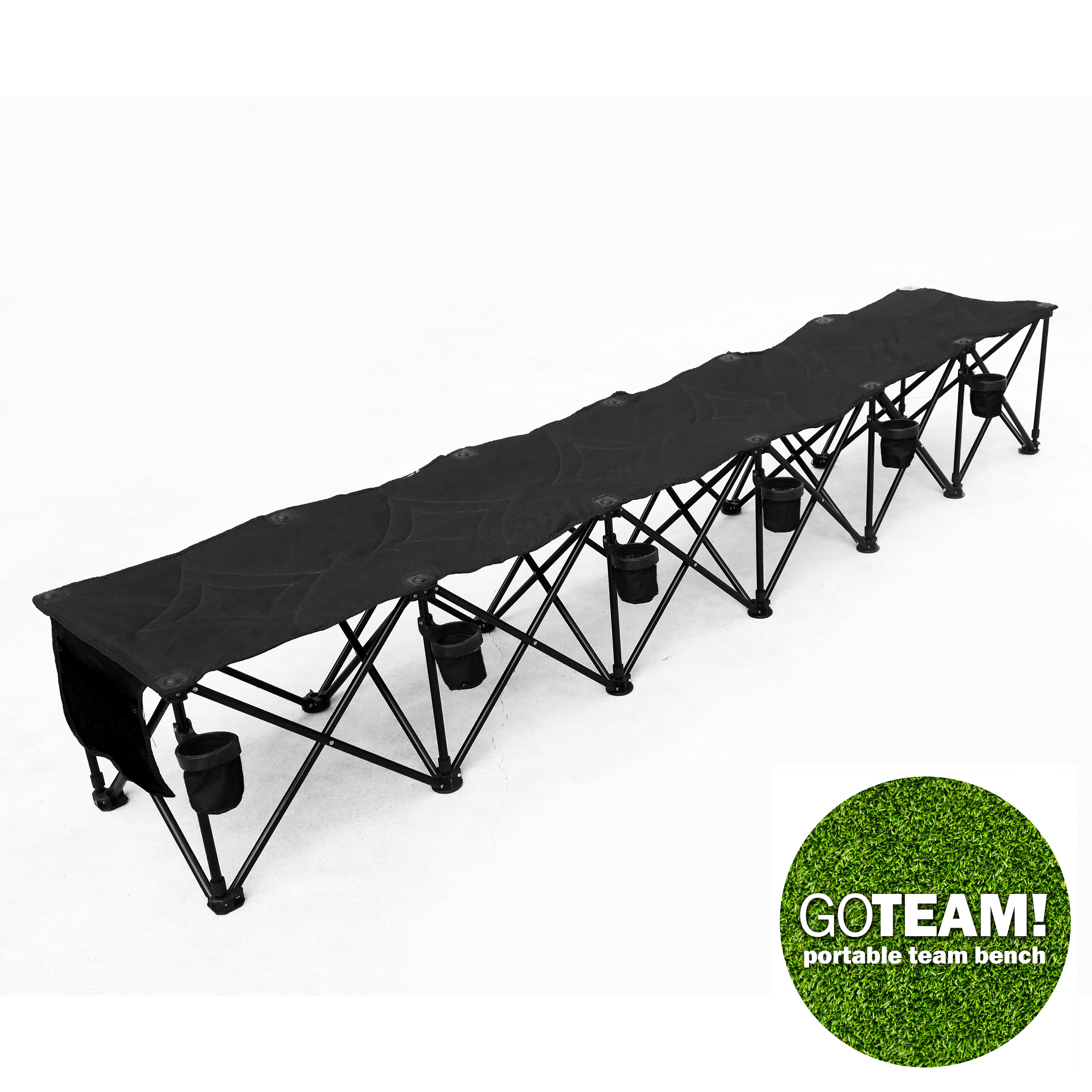 Exceptional Folding Team Bench Part - 9: Multi Seat Portable Folding Team Bench - Vandue