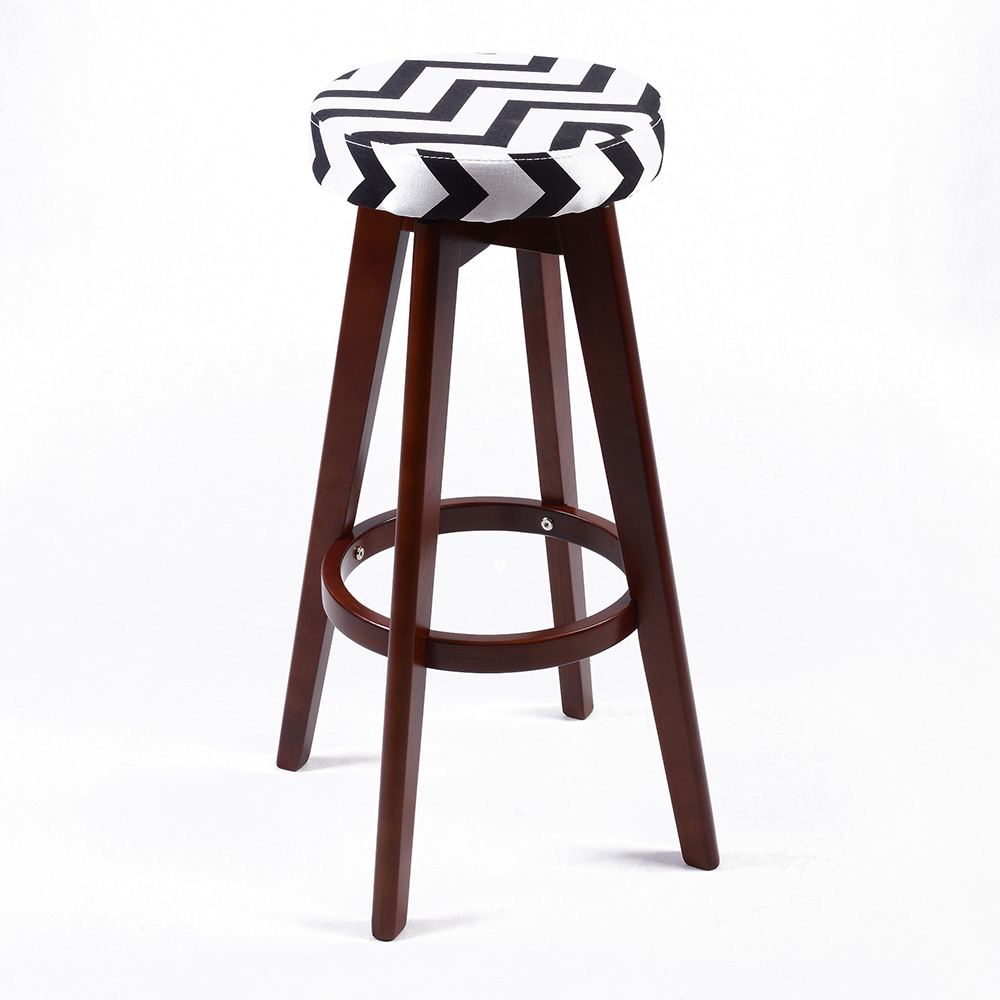 New modern backless wood chevron barstool