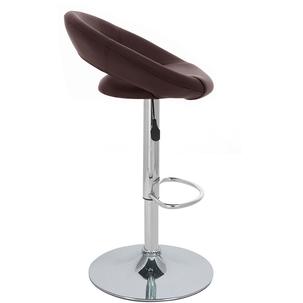 NEW BARSTOOL ADJUSTABLE BAR STOOL CHAIR ADJUSTING RHO  : rholeatherbrown from www.ebay.ie size 1000 x 1000 jpeg 94kB