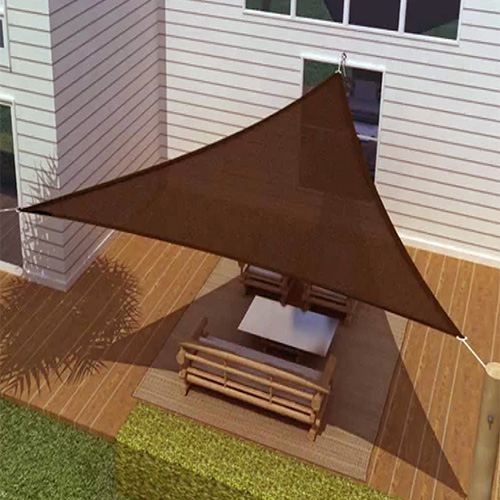 SUN SAIL SHADE - TRIANGLE CANOPY COVER-OUTDOOR PATIO ...
