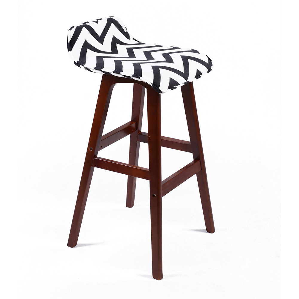 new modern lo back wood chevron barstool 28 5 contemporary bar counter stool. Black Bedroom Furniture Sets. Home Design Ideas