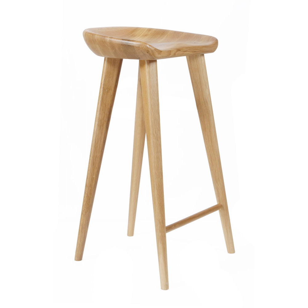 New Modern Carved Wood Barstool 29 Quot Contemporary Bar