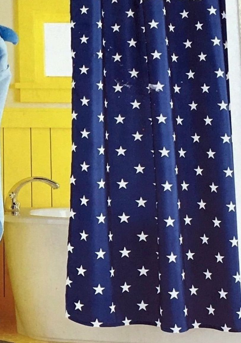 Circo Navy Blue Stars Fabric Shower Curtain Americana Usa Bath Decor Ebay
