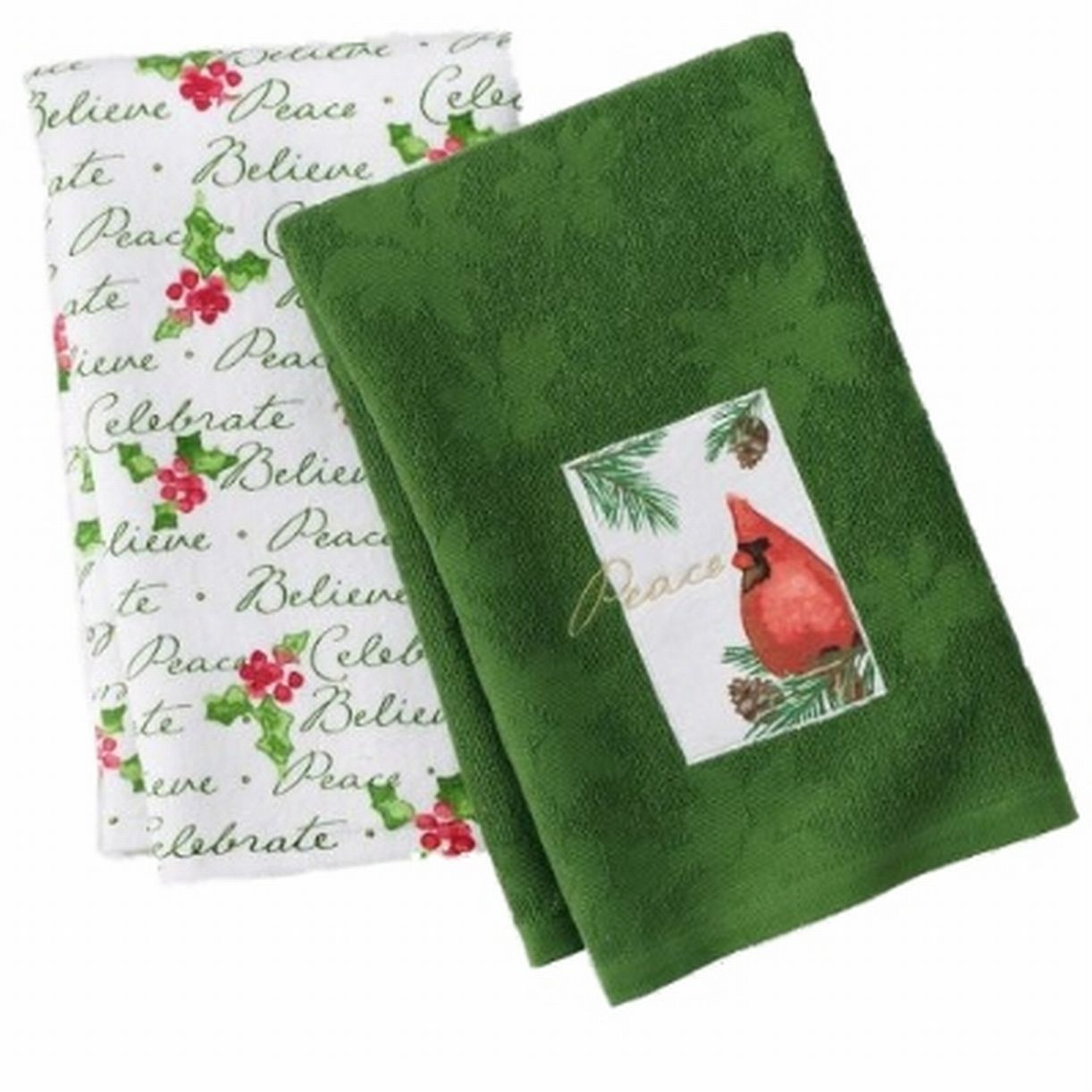 St Nicholas Square Christmas Cardinal Kitchen Towel Set