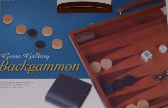 Cardinal Supplies Deluxe Wood Backgammon Game Tournament Size In Case at Sears.com
