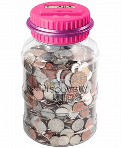 Discovery Kids Coin Counting Money Jar Electronic Bank Digital Coin Counter Pink at Sears.com