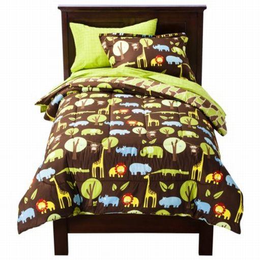 Circo full bed in bag wild safari jungle animal comforter for Wild bedding