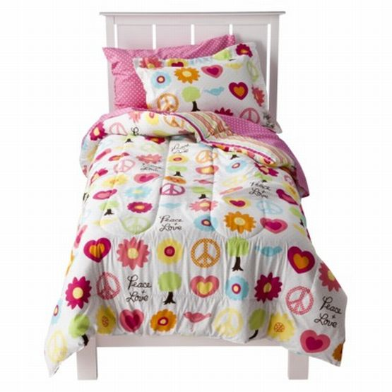 Circo Full Bed in a Bag Peace Sign Girl Comforter Set Sheets Shams 7 pc at Sears.com