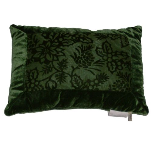 Velour Throw Pillows : Soft Impressions Green Velour Throw Pillow Subtle Floral Accent Cushion eBay