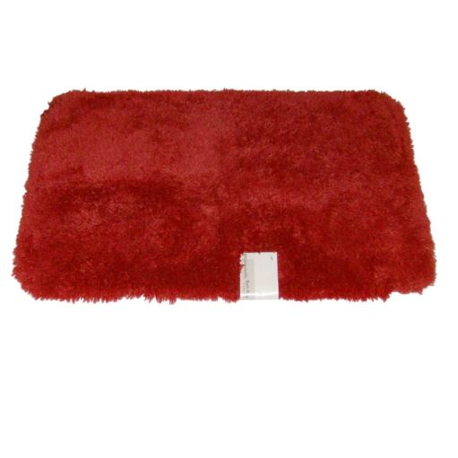 Envision Orange Coral Throw Rug No Skid Accent Bath Mat